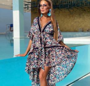 Γυναικείο ασύμμετρο φόρεμα 2125402