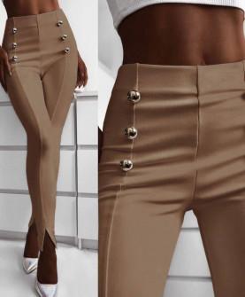 Γυναικείο παντελόνι με σκισίματα 5517 καμηλό