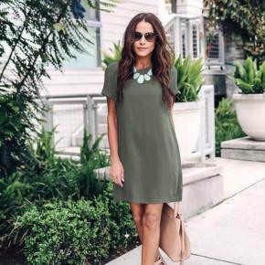 Γυναικείο φόρεμα 12204 πράσινο σκούρο