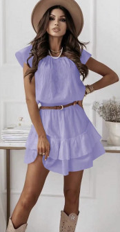 Γυναικείο φόρεμα με ζώνη 5736 λιλά