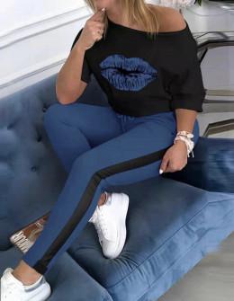 Γυναικείο σετ φιλί 5479 μπλε