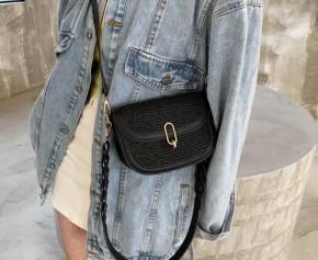 Γυναικεία εντυπωσιακή τσάντα B401 μαύρη