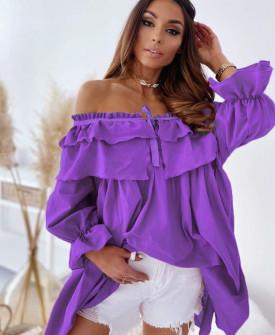 Γυναικείο μπλουζοφόρεμα 7075 μωβ