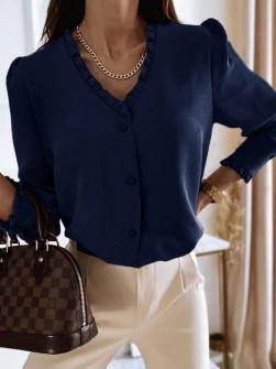 Γυναικείο μοντέρνο πουκάμισο 5993 σκούρο μπλε