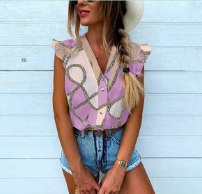 Γυναικεία αμάνικη μπλούζα 505901 μωβ