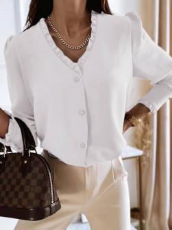 Γυναικείο μοντέρνο πουκάμισο 5993 άσπρο