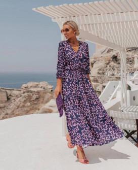Γυναικείο αέρινο μακρύ φόρεμα 21350