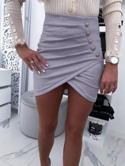 Γυναικεία κοντή φούστα 20106 γκρι