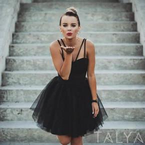 Γυναικείο φόρεμα με τιράντες 21810 μαύρο