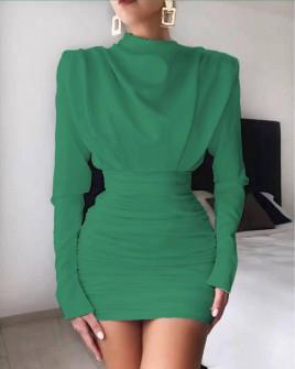 Γυναικείο εντυπωσιακό φόρεμα 8046 πράσινο