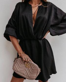 Στιλάτο γυναικείο φόρεμα 5560 μαύρο