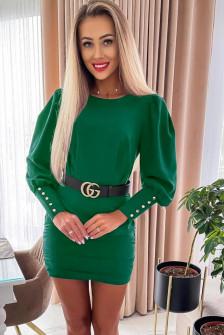 Γυναικείο φόρεμα με ζώνη 6016 πράσινο