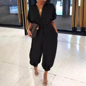 Γυναίκεια χαλαρί ολόσωμη φόρμα 5136 μαύρη
