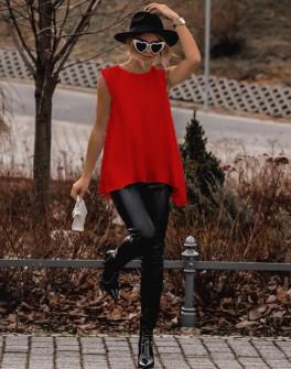 Γυναικείο μπλουζοφόρεμα 3286 κόκκινο