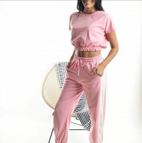 Γυναικείο αθλητικό σετ 77713 ροζ