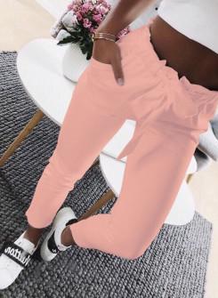 Γυναικείο παντελόνι 18069 ροζ