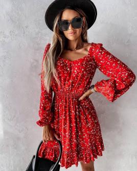 Γυναικείο φόρεμα με print  596704