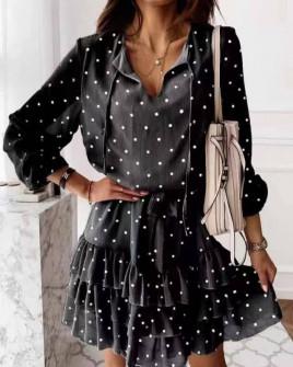 Γυναικείο πουα φόρεμα 56303 μαύρο