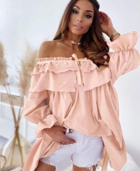 Γυναικείο μπλουζοφόρεμα 7075 ροζ