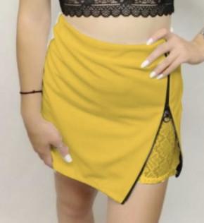 Γυναικεία φούστα 5153 κίτρινο