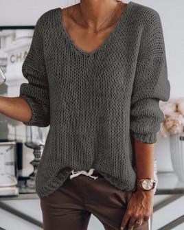 Γυναικείο πουλόβερ 888 σκούρο γκρι
