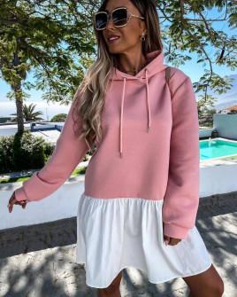 Γυναικείο μπλουζοφόρεμα 5540 ροζ