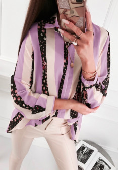 Γυναικείο πουκάμισο 5041 μωβ