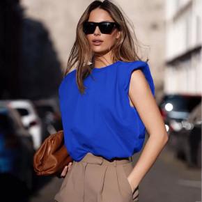 Γυναικείο αμάνικο μπλουζάκι 5090 μπλε
