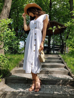 Γυναικείο φόρεμα 3077 λευκό