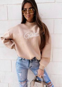Γυναικεία μπλούζα λουπέτο 4436 μπεζ
