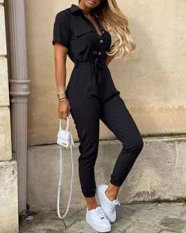 Γυναικεία ολόσωμη φόρμα 5098 μαύρη