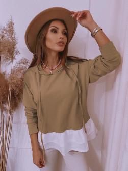 Γυναικεία μπλούζα 13941 καμηλό