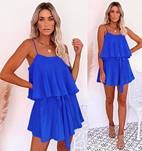 Дамска рокля солей 5199 синя