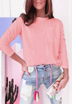 Γυναικεία απλή μπλούζα 51037 ροζ