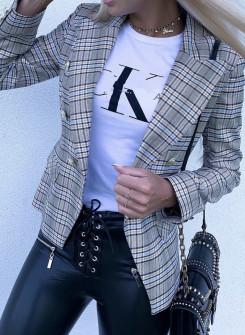 Γυναικείο σακάκι 390902 καρό