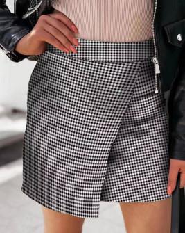 Γυναικεία φούστα πτι καρό 595602