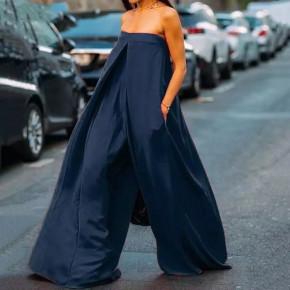 Γυναικεία ολόσωμη φόρμα 4545 σκούρο μπλε