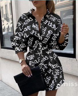 Γυναικεία πουκαμίσα 398303 μαύρη