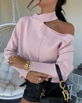 Γυναικεία εντυπωσιακή μπλούζα 8095 ροζ