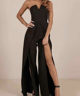 Γυναικεία ολόσωμη φόρμα 9496 μαύρο