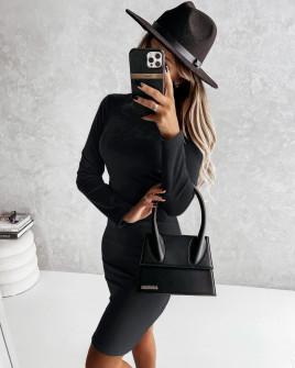Γυναικείο βελούδινο φόρεμα 5978 μαύρο