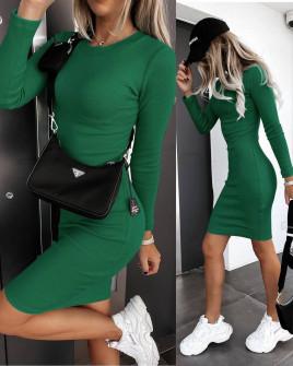 Γυναικείο εφαρμοστό φόρεμα 6008 πράσινο