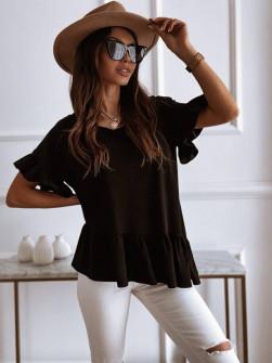 Γυναικείο εντυπωσιακή μπλούζα 00823 μαύρη