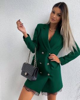 Γυναικείο εντυπωσιακό φόρεμα με δαντέλα 5998 πράσινο