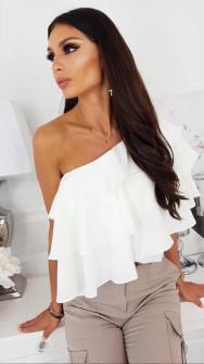 Γυναικεία έξωμη μπλούζα 5121 άσπρη