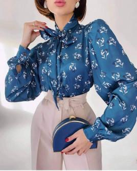 Γυναικείο πουκάμισο με φιόγκο 2174103