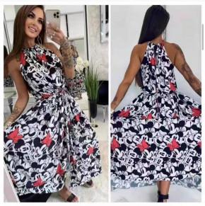 Γυναικείο φόρεμα με print 572602