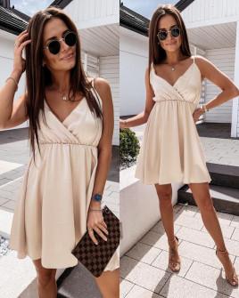 Γυναικείο φόρεμα 5122 μπεζ