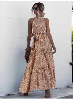 Γυναικείο μακρύ φόρεμα 625704