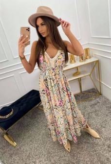 Γυναικείο φόρεμα φλοράλ 555702